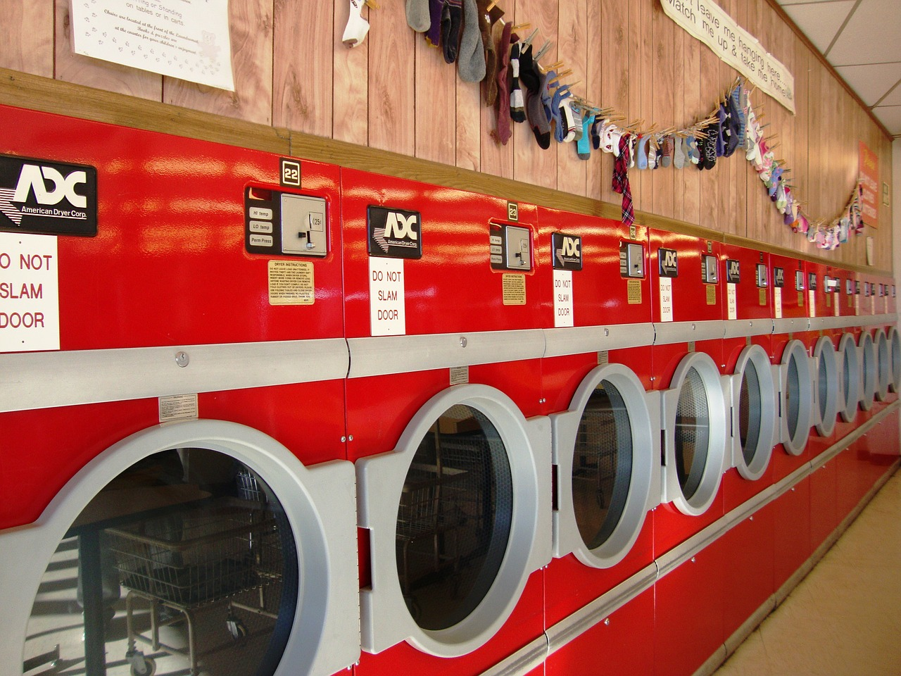 Red washing machines