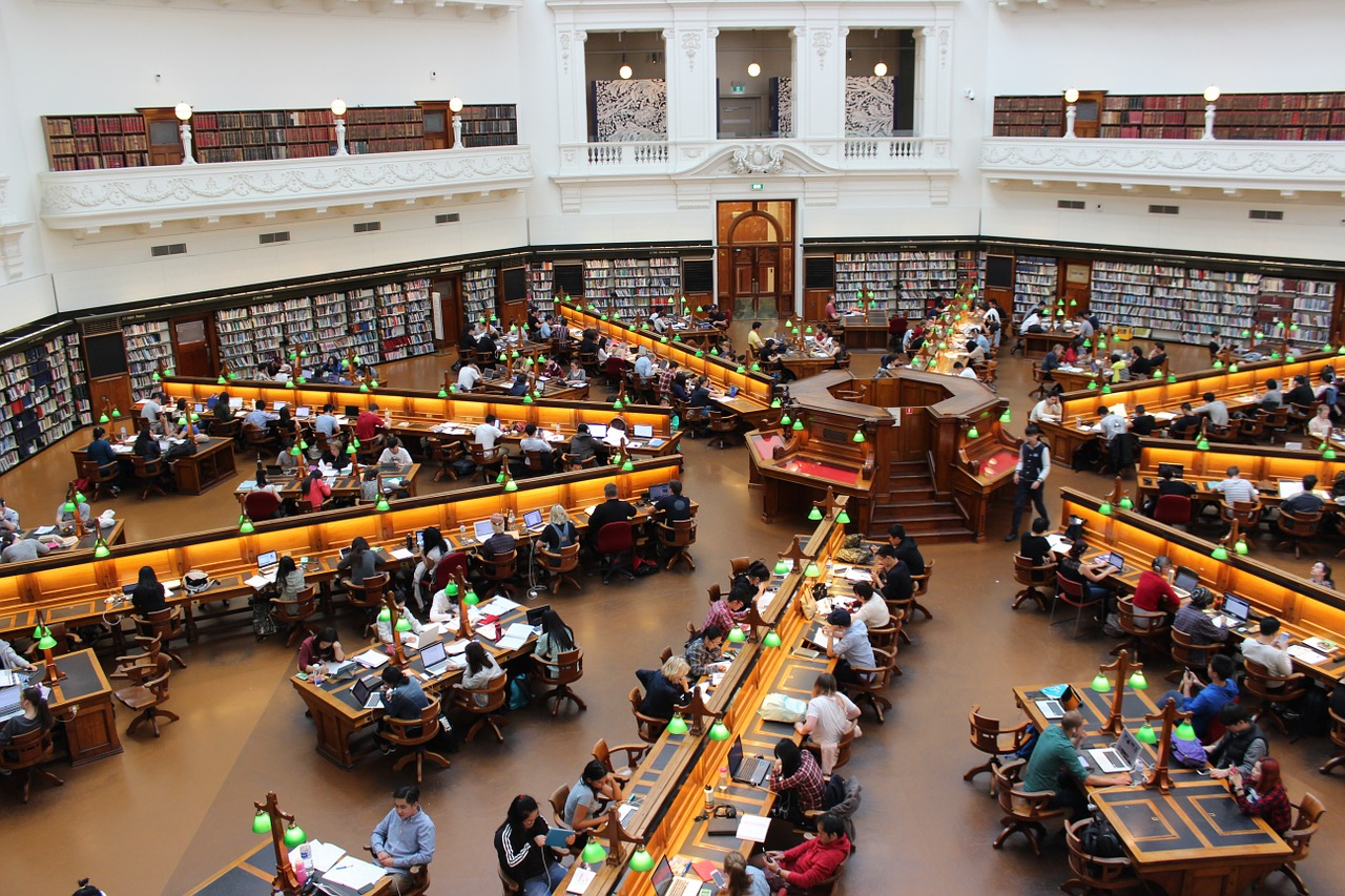 College library - College life on American universities looks like this