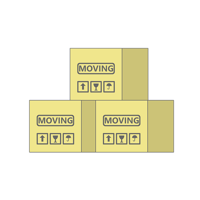 Three moving boxes.