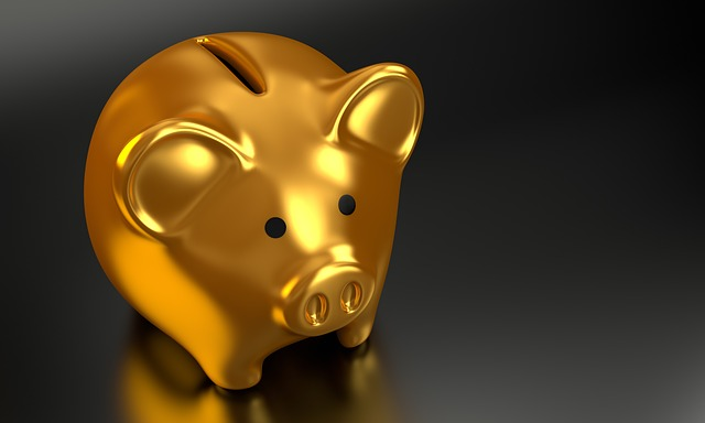 A golden piggy bank for college.