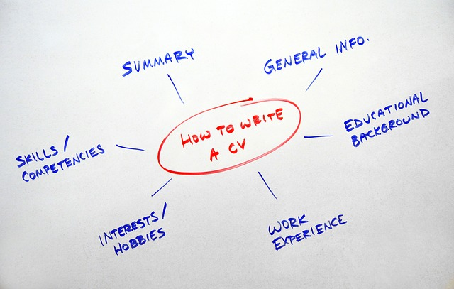 A diagram of tips for a good resume.