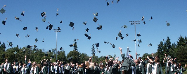 A Lot Of Young People Graduating Among Friends When Studying Abroad.