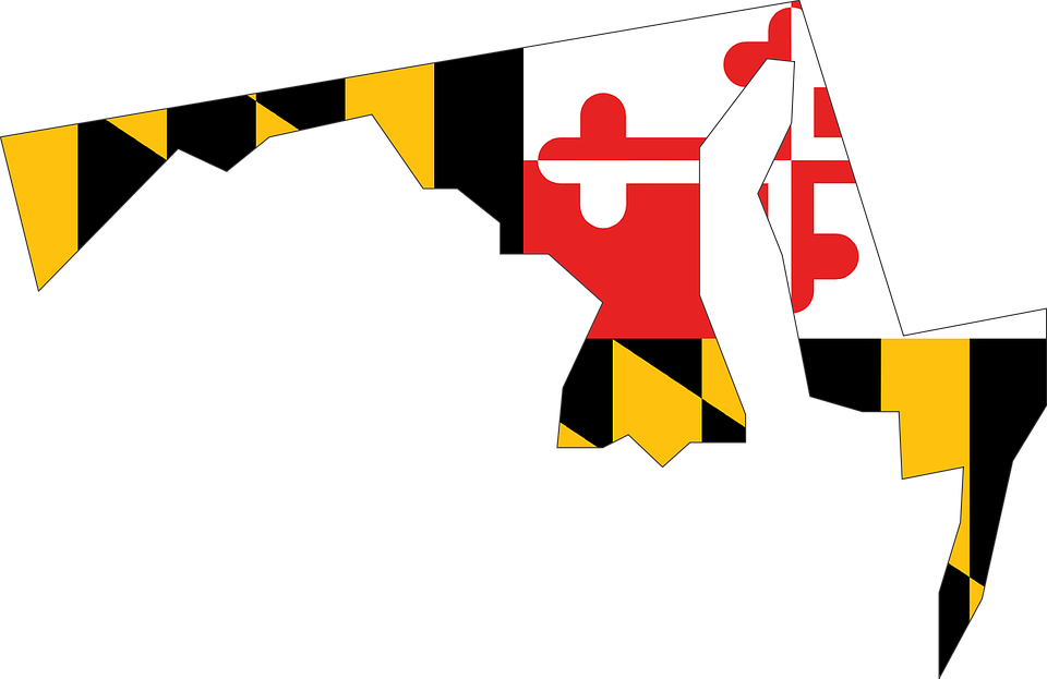 A Map Of Maryland.