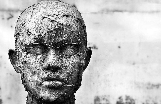 A sculpture of a head.