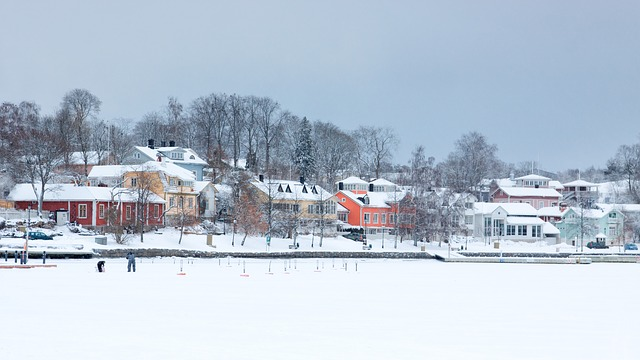 Small town in winter as a perfect choice for you when moving to Morris County.