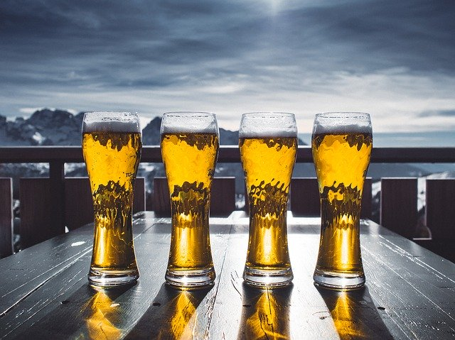 Glasses of Beer.