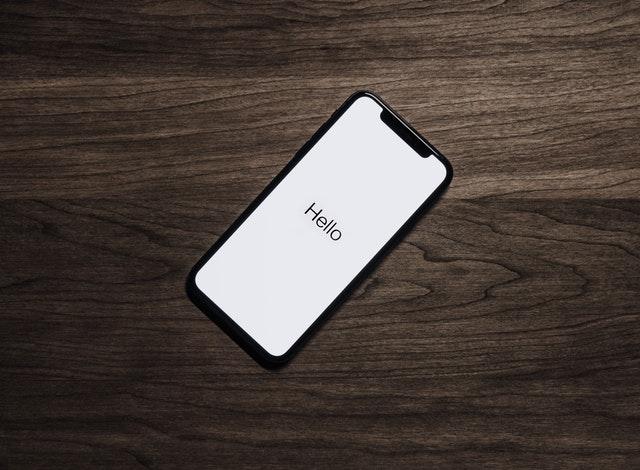 A phone saying hello.