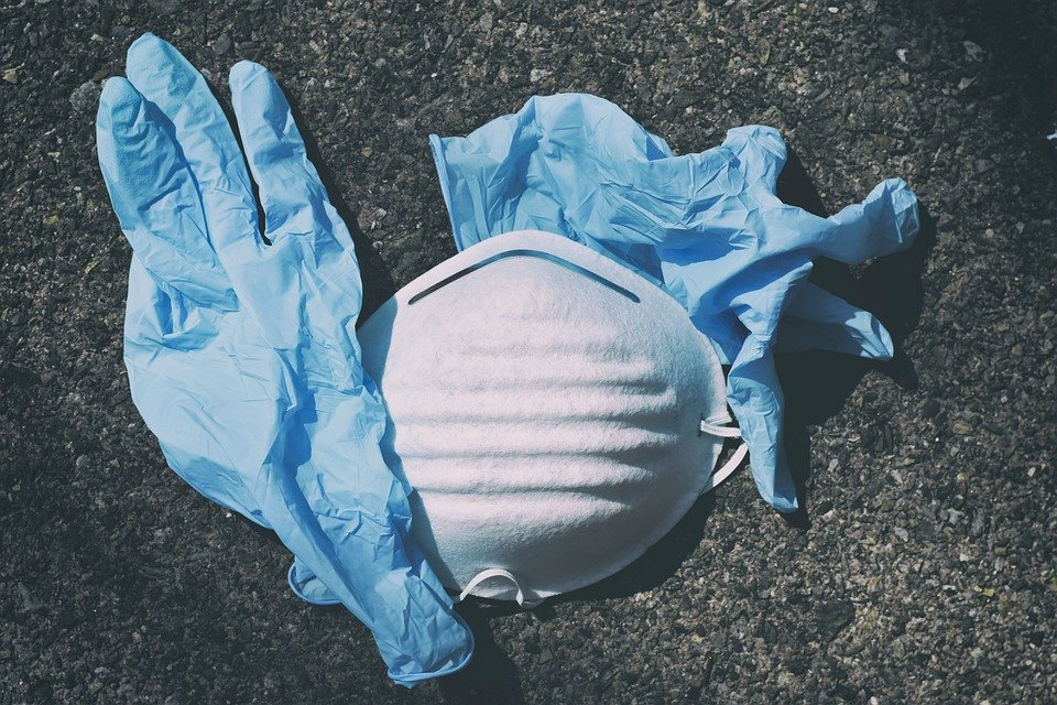A mask and disposable gloves.