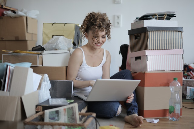Maximize space in your college dorm room by decluttering.