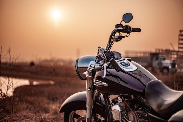 Bike watching a sunset.
