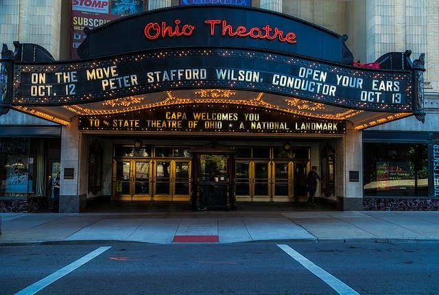 An entrance to Ohio Theater.