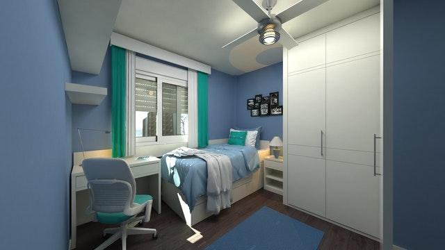 A modern dorm room
