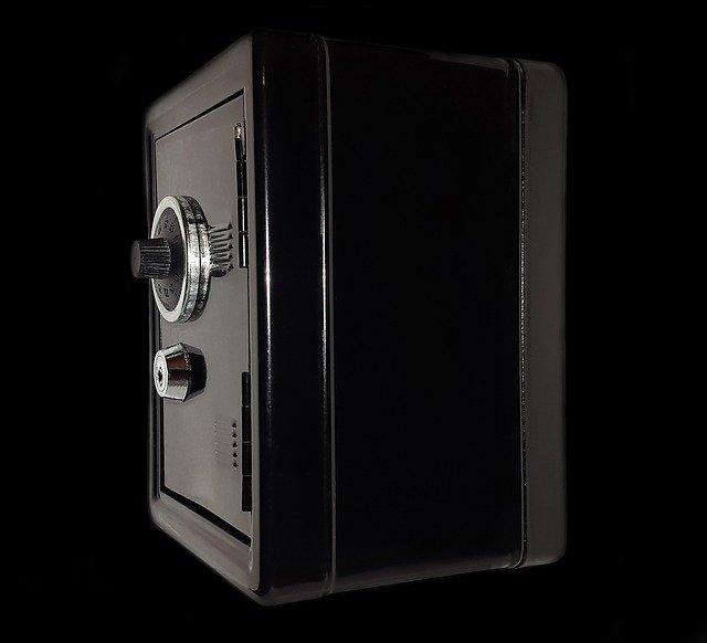 Black safe box.