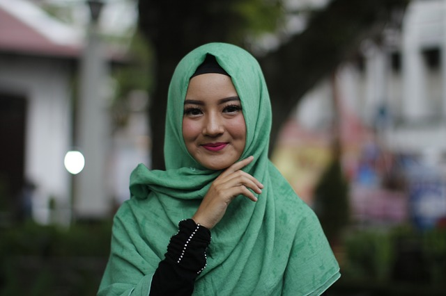A girl with hijab.