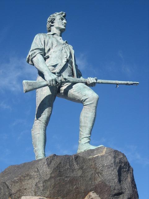 Minuteman statue in Lexington.