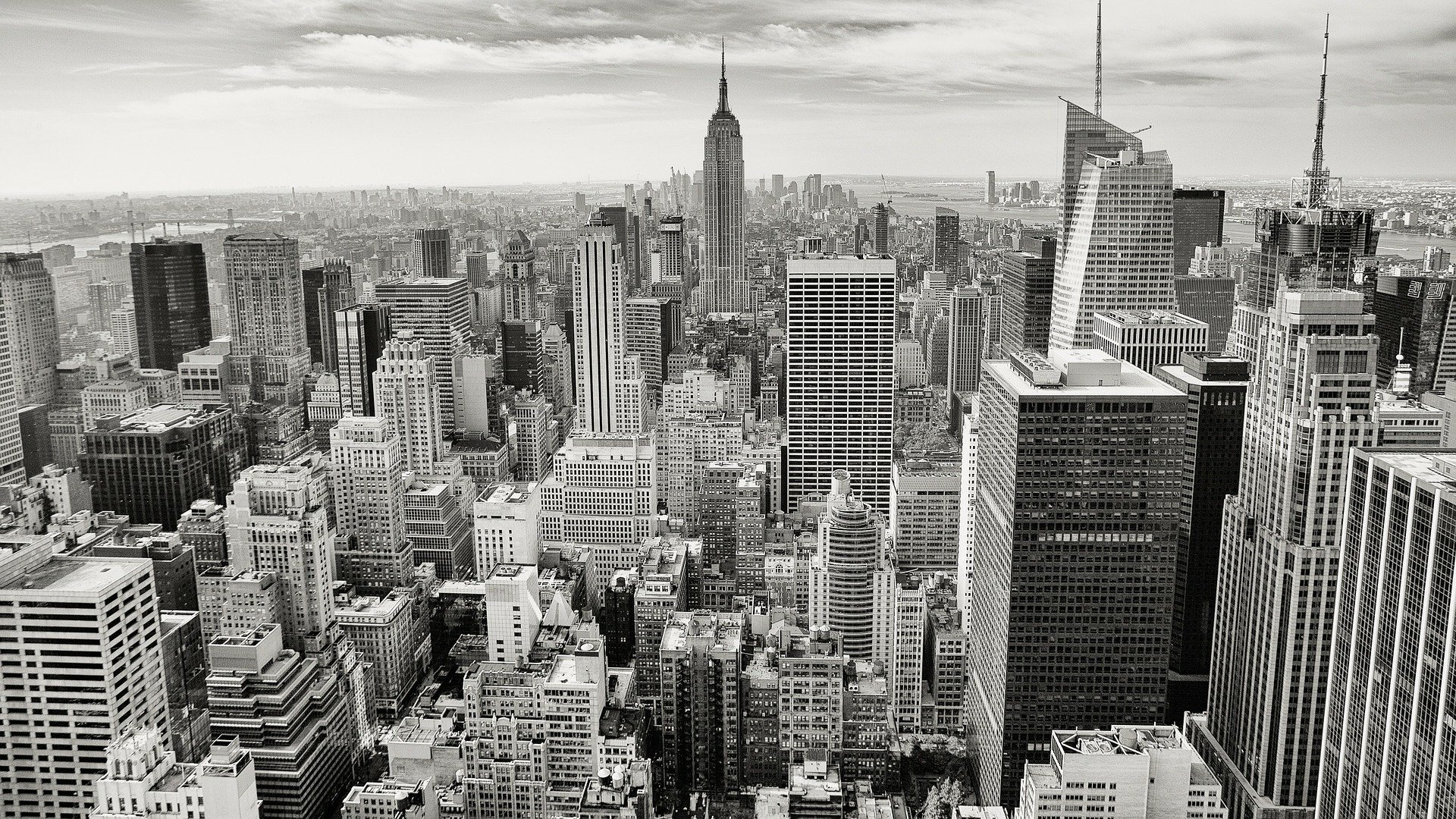 A view of Manhattan which is an inevitable part of a college student's guide to New York City.