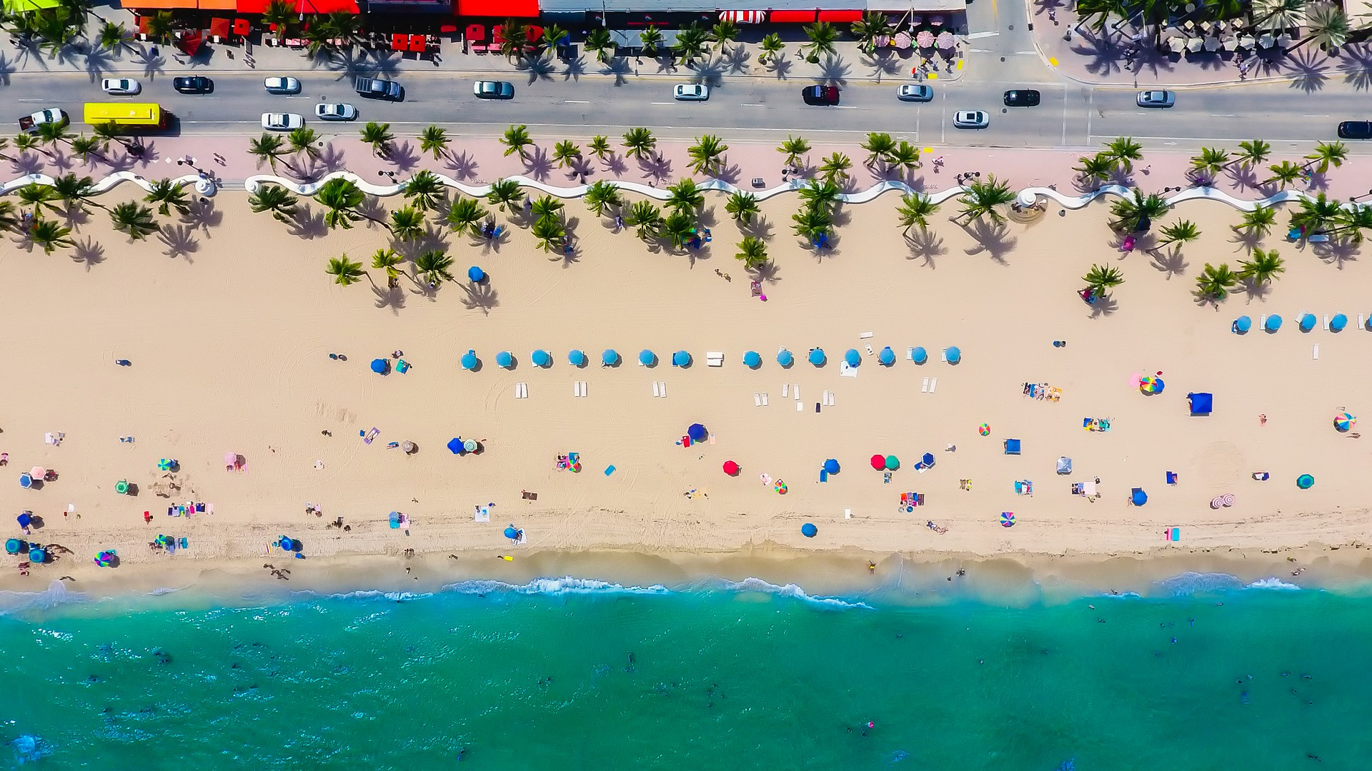 A Beach In Fort Lauderdale, FL.