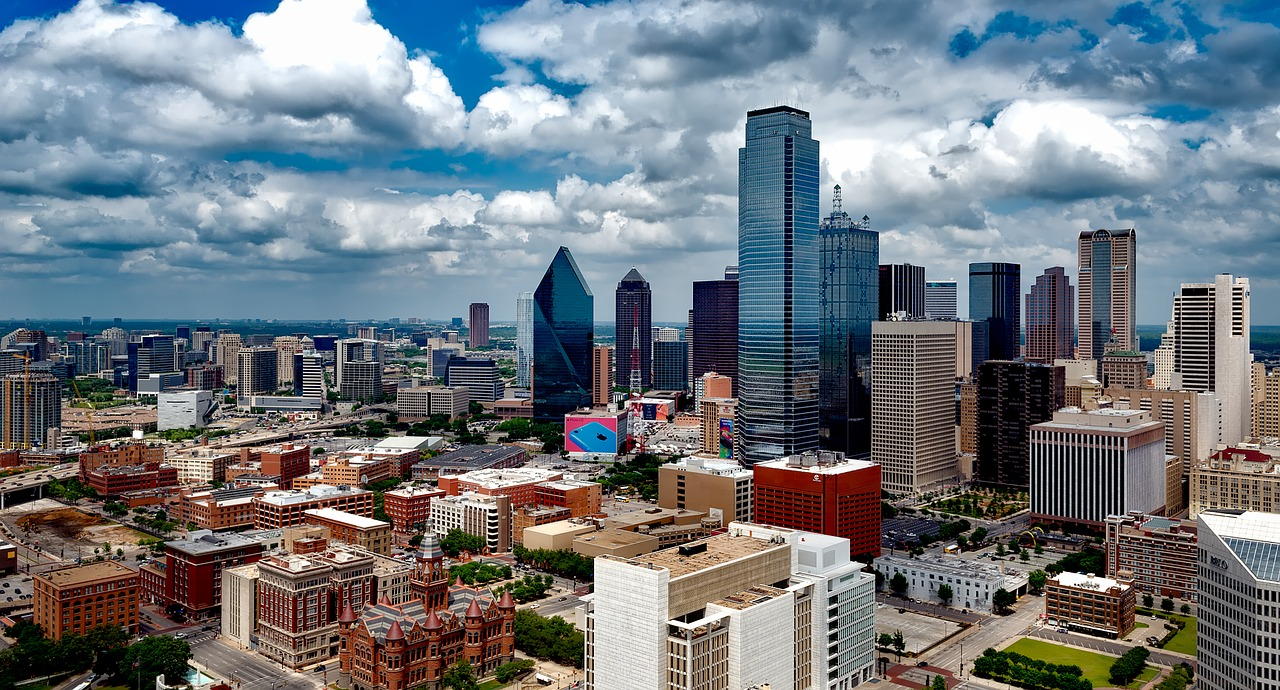 A view of Dallas, one of the millennials' favorite cities in Texas.