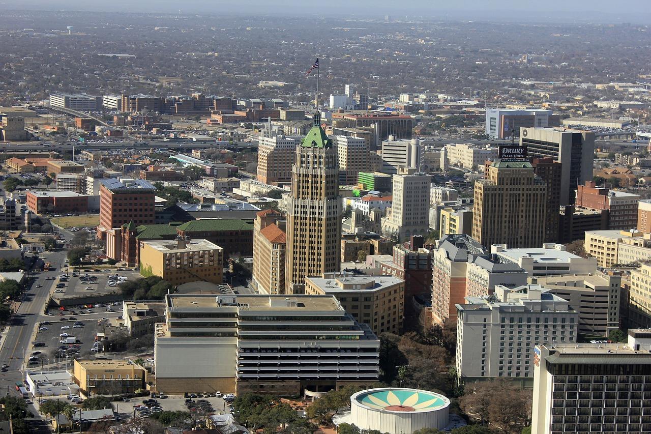 Downtown in San Antonio.