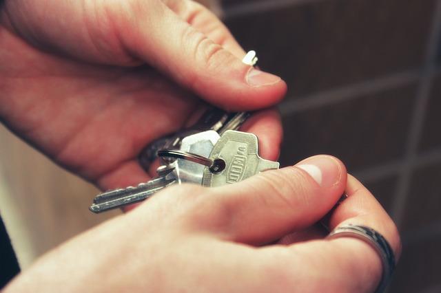 Apartment keys.