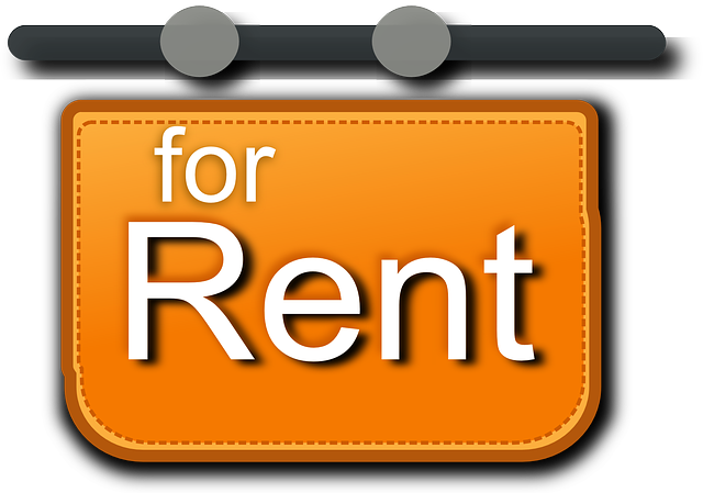 For rent sign.